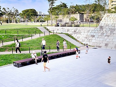 福井城址の雰囲気 福井市中央公園が再整備完了