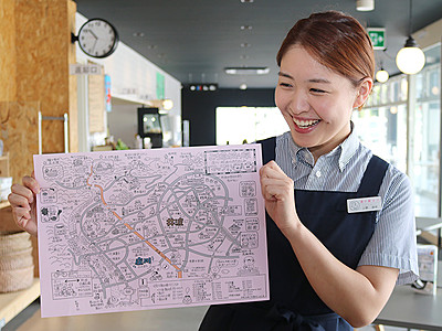 観光マップ 魅力アップ 庄川・井波地域が製作