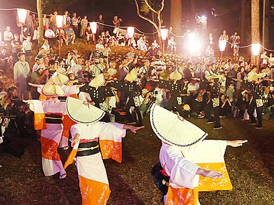 おわら風の盆前夜祭が開幕 八尾 11町日替わりで開催