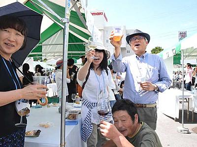 東御ワインフェスタ9月1日 東北信の数十種、モルドバ産も