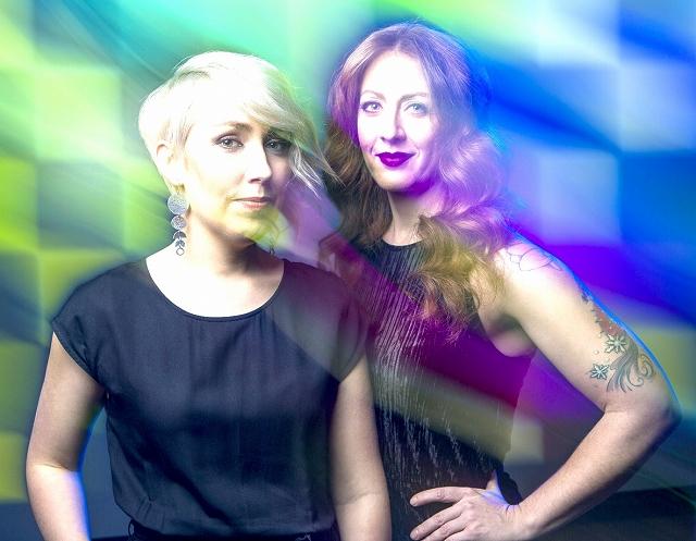「Thin Edge New Music Collective」のイラナ・ワニアックさん(左)とシェリル・デュバルさん