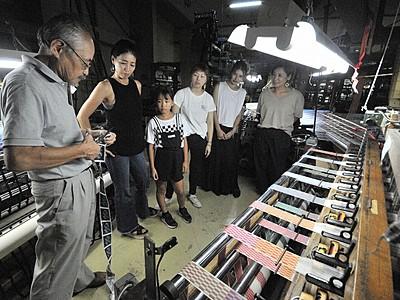 織ネーム魅力発信へ工場一般公開 福井県坂井市の柳澤織ネーム