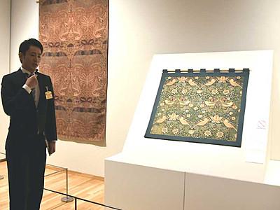 刺しゅうや家具、モリスの世界観紹介 上田で8日から展覧会