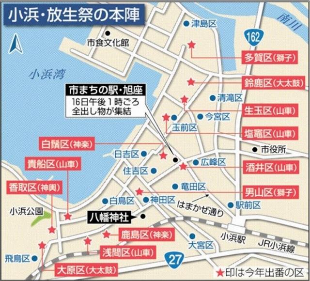 福井県小浜市で9月15、16日に行われる「放生祭」の本陣