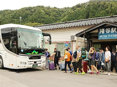 代行バスの接続 不便の声 JR高山線・坂上-猪谷間