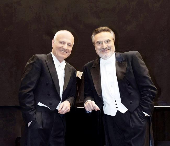 ジュゼッペ・サッバティーニさん(右)とマルコ・ボエーミさん