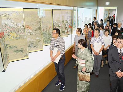日本古来の美息づく 花鳥風月展開会式