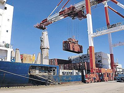 韓国航路 週10便体制に 金沢ー釜山 コンテナ船初入港