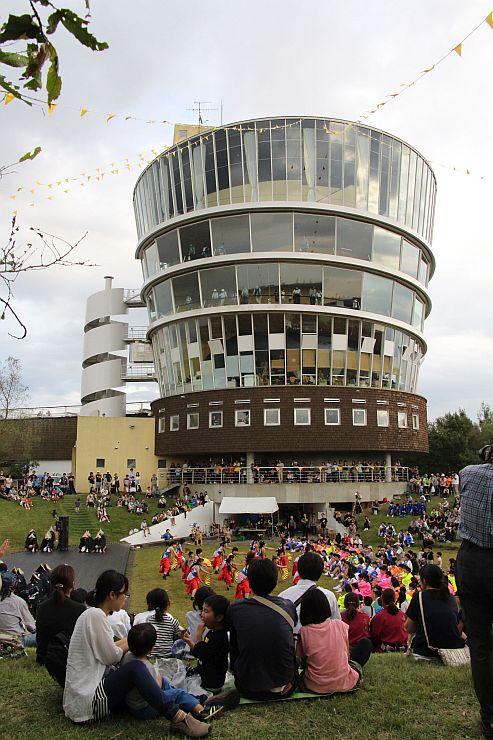 昨年開かれた「福島潟自然文化祭」の様子=2017年9月、新潟市北区
