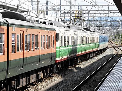 しなの鉄道、3種の車両連結でGO 屋代―小諸を特別運行