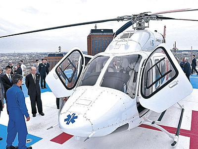 ドクターヘリ運航開始 県内全域40分以内