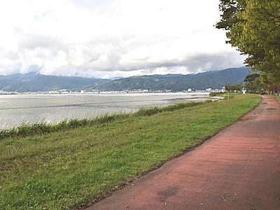 諏訪湖周自転車道、11月着工 まず諏訪市内の650メートル
