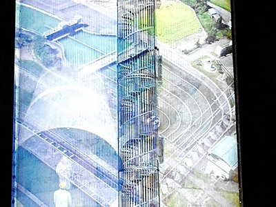 農業用水の歴史知って 福井県坂井市、水槽に動画投影