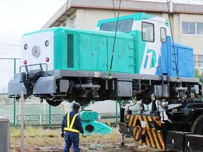 新幹線軌道確認車 鉄道資料館に搬入 新潟・秋葉区