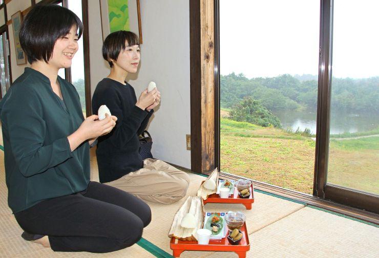 「島むすびランチ」を提供している島カフェ=11日、佐渡市新穂正明寺