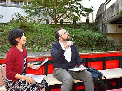 松川遊覧船、英語でガイド 来春、観光アナウンス導入