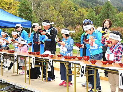 「早食い」復活 そば祭り 開田高原にぎわい