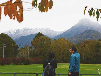 八ケ岳、冬色 初冠雪を確認