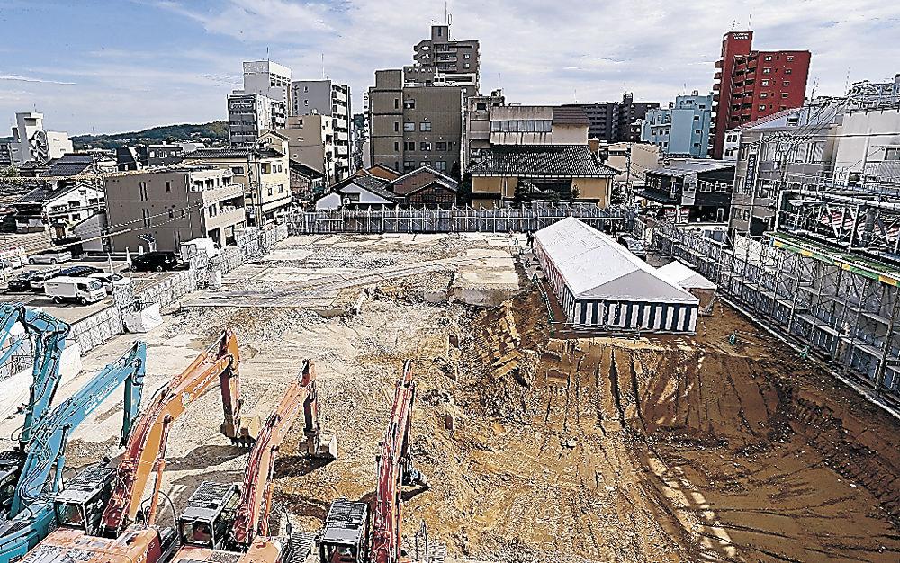 複合商業施設の建設予定地=金沢市の近江町市場
