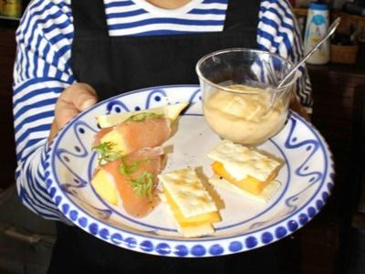 自慢の柿アレンジ 飲食店イベント28日まで 新潟巻地区