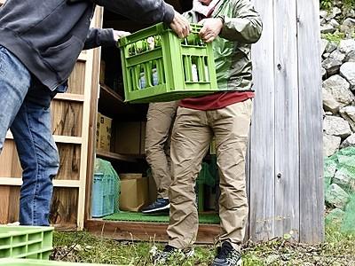 荒島岳の風穴で熟成、酒を蔵出し 11月から300本販売