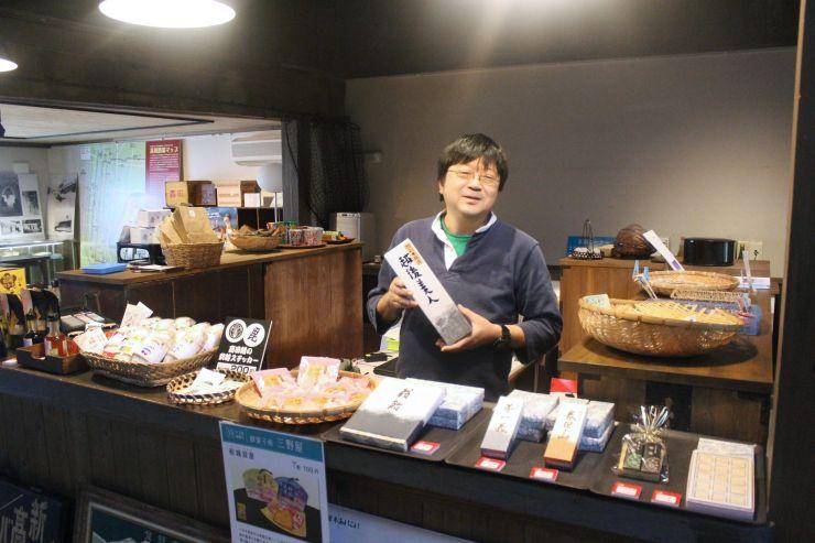 町家交流館高田小町内に社会実験として開店した土産物店「おもて屋」=上越市本町6