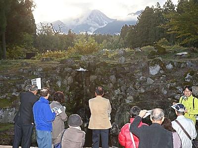 名勝の滝復活 妙高・旧関山宝蔵院庭園 11月4日公開
