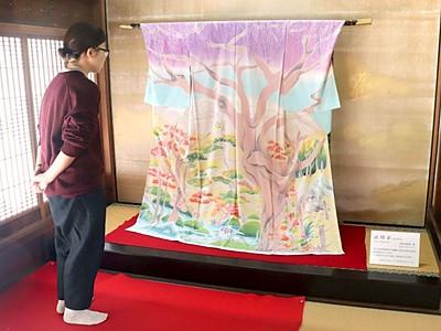 村山雨景さん作品展 染色や絵画 新潟・北方文化博物館