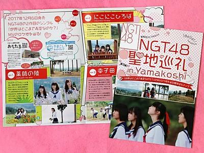 ロケ聖地へ巡礼を NGT48公認パンフ 山古志で配布