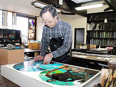ジブリの魅力 ガラスオブジェに 12月の大博覧会で展示