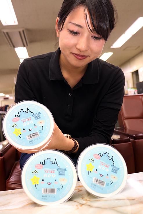 ミラたんのパッケージがかわいい「うおづ産米おかゆ」