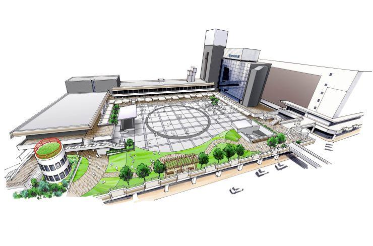 バスセンタービルのリニューアルイメージ図(新潟交通提供)