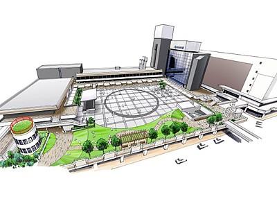 万代シテイ21年秋改装 広場と通路一体 新潟・中央区