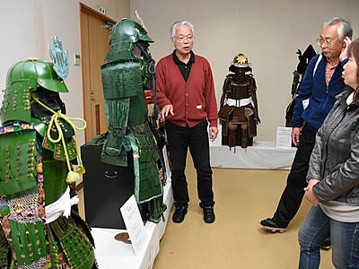 城下町松本で「手作り甲冑展」 山雅カラーも