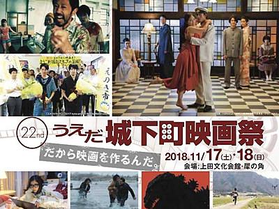 うえだ城下町映画祭17・18日 目玉は「応援上映」