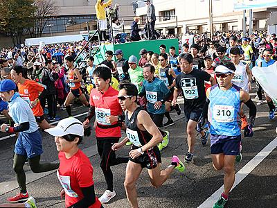 3152人快走 となみ庄川散居村縦断マラソン