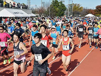 1316人完走 入善で扇状地マラソン
