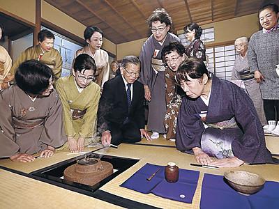 名品ぞろい「感謝」の茶席 加賀・梅鉢茶会 金沢美術倶楽部100年