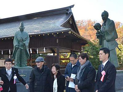 第2、第3の佐久間象山を 長野の象山神社に銅像