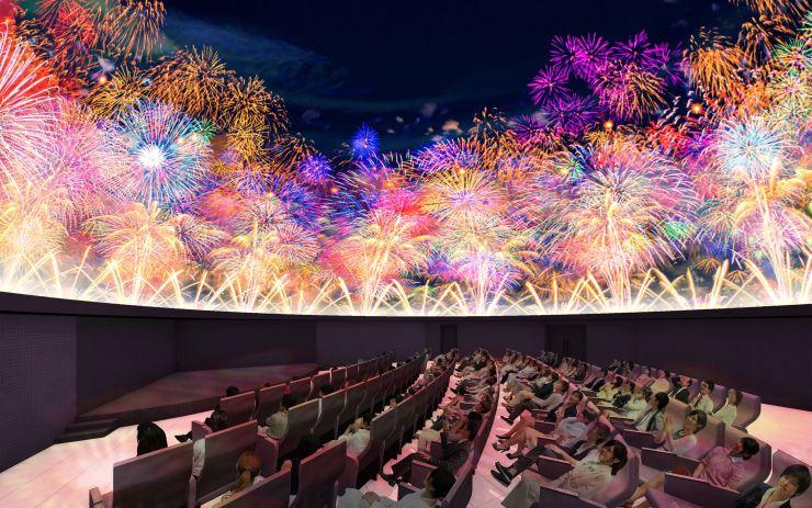 「ながおか花火館」に入る花火シアターのイメージ(長岡市提供)