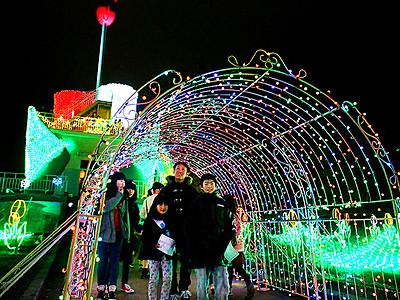 10万球の光で幻想的な世界 砺波チューリップ公園