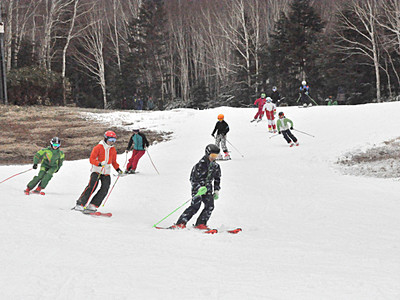 志賀高原で統一スキー場開き祭