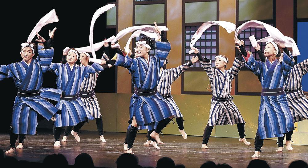 海の唄をテーマに躍動した兼生会=金沢歌劇座