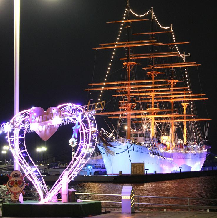 恋人の聖地に選定されている「海王丸パーク」