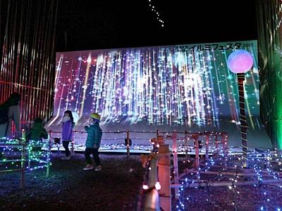 きらめく師走の商店街 電飾で600メートル彩る 阿賀野