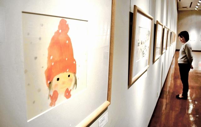 いわさきちひろが描いた絵本がテーマの後期展示=福井県越前市武生公会堂記念館