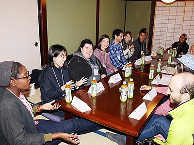 外国人観光客のおもてなし考える 高岡・金屋町のNPO
