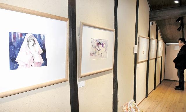 日本の童話などを基にした企画展=12月8日、福井県越前市天王町の「ちひろの生まれた家」記念館