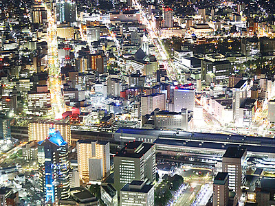 富山の夜景 Xマスの華やぎに 24、25日ヘリ遊覧飛行