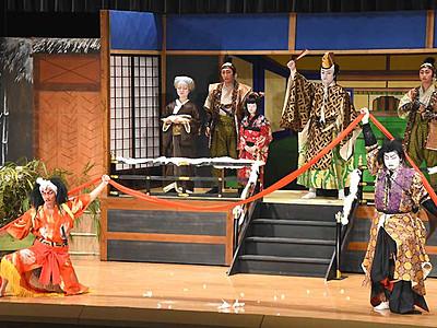 歌舞伎交流、涙と笑いと 下條に三遠南信地域6団体